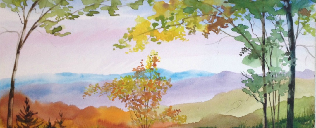 "Sharyn Fogel Watercolor ""Old Fall"""