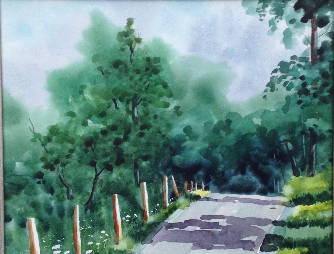 "Sharyn Fogel Watercolor ""The High Road"""