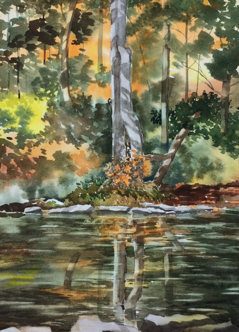 Watercolor Paintings by Asheville Artist Sharyn Fogel