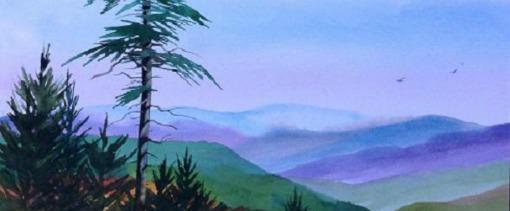 "Sharyn Fogel Watercolor ""Mountain Vista"""
